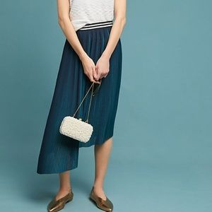 NWT Anthropologie TWO-TONED PLEATED SKIRT